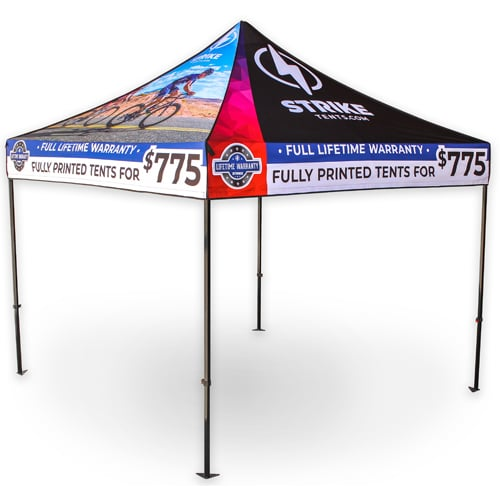 10 x 10 pop up custom strong tent